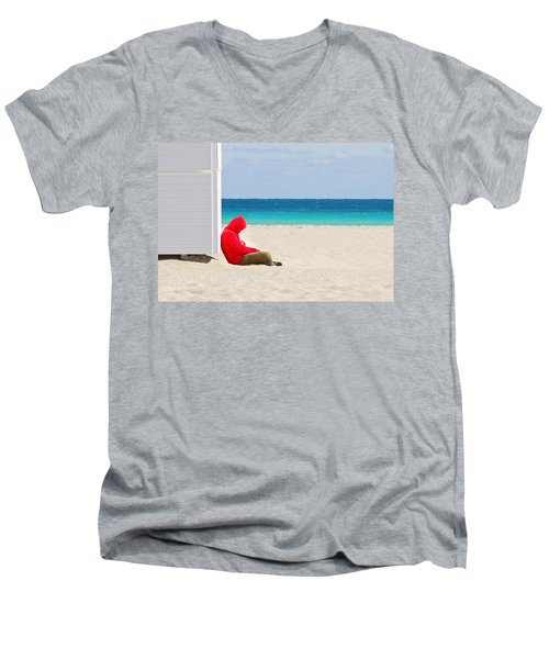 The Bright Side Men's V-Neck T-Shirt by Keith Armstrong
