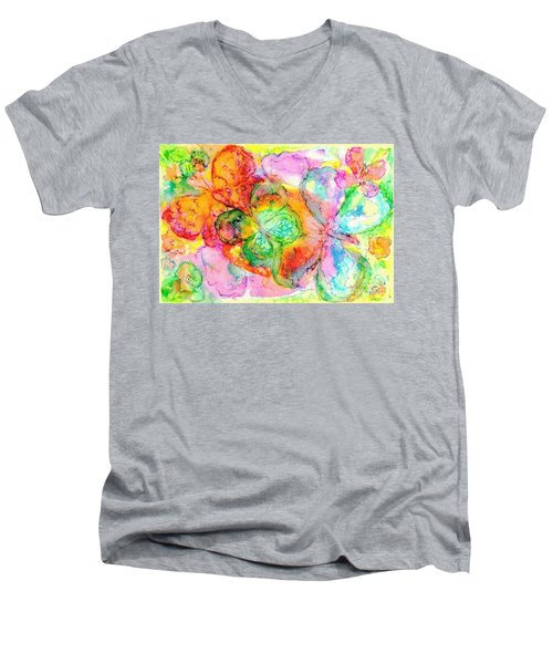 The Butterfly Dance Men's V-Neck T-Shirt by Hazel Holland