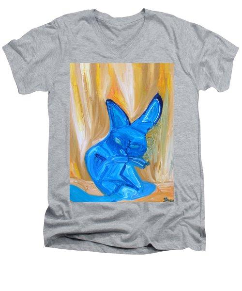 The Cat Camelion  Men's V-Neck T-Shirt