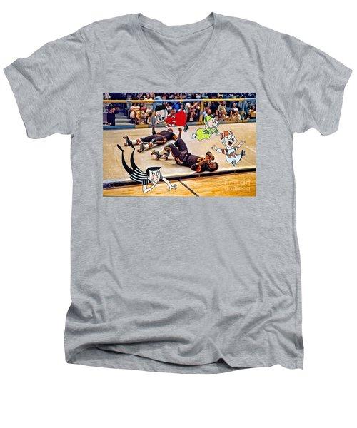 The Chipmunks Skating Roller Derby Men's V-Neck T-Shirt