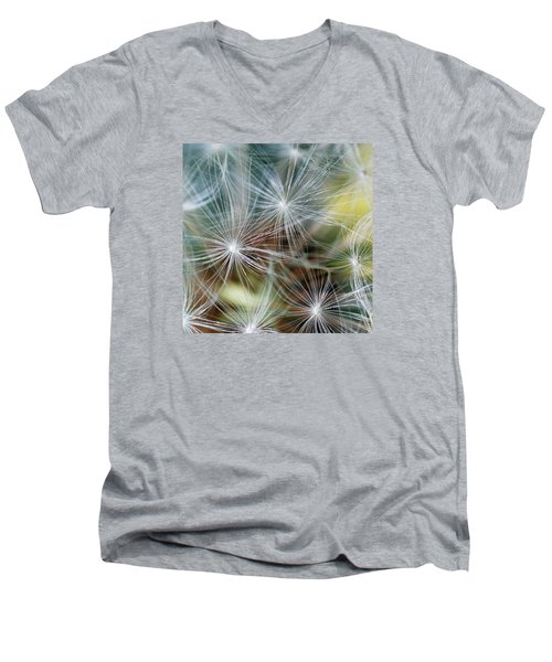 The Clock Men's V-Neck T-Shirt by Wendy Wilton