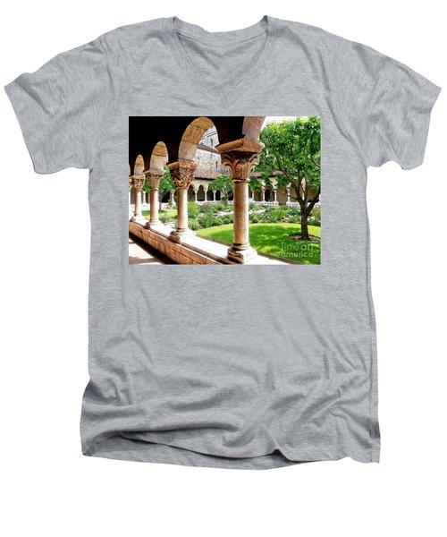 The Cloisters Men's V-Neck T-Shirt by Sarah Loft