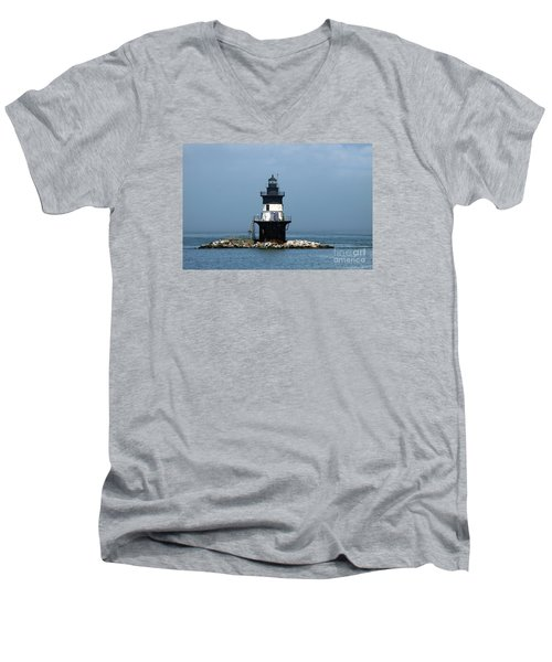 The Coffee Pot Lighthouse Men's V-Neck T-Shirt by Christiane Schulze Art And Photography