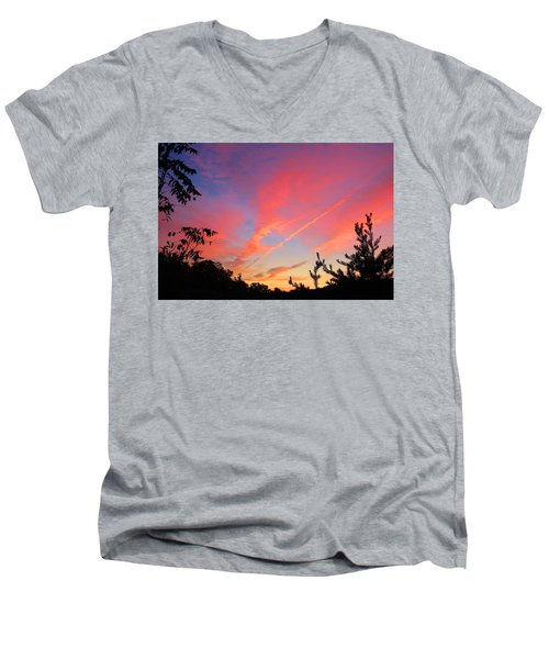 Men's V-Neck T-Shirt featuring the photograph The Color Gets Good by Kathryn Meyer