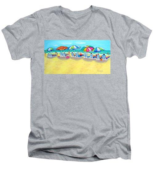 The Color Of Summer  Men's V-Neck T-Shirt