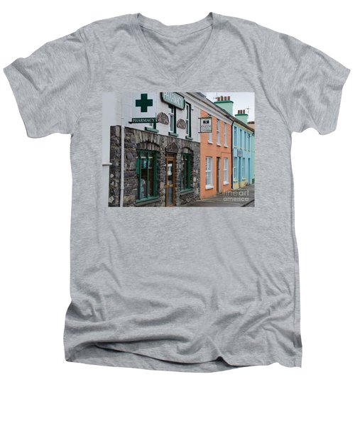 The Colors Of Sneem Men's V-Neck T-Shirt by Mary Carol Story