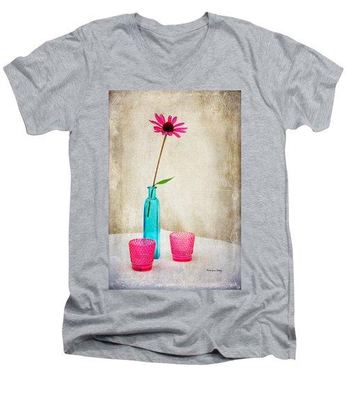 The Coneflower Men's V-Neck T-Shirt