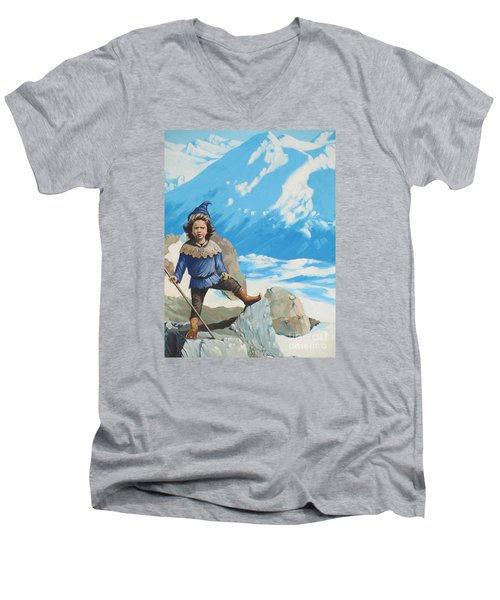 The Conquerer. Men's V-Neck T-Shirt by Vivien Rhyan
