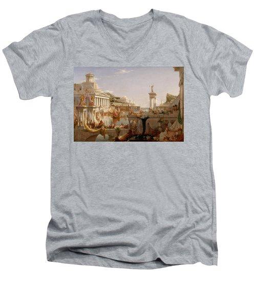 The Course Of Empire Consummation  Men's V-Neck T-Shirt
