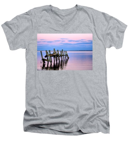 Men's V-Neck T-Shirt featuring the photograph The Cove Dock by Brian Hughes