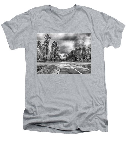 The Crossroads Men's V-Neck T-Shirt by Howard Salmon