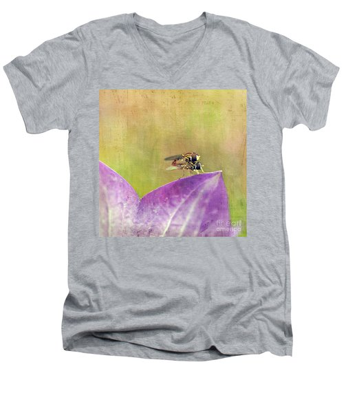 The Dance Of The Hoverfly Men's V-Neck T-Shirt