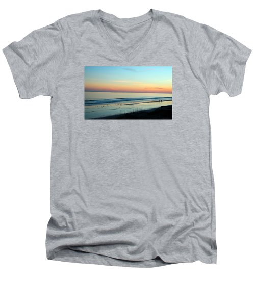 The Day Ends Men's V-Neck T-Shirt