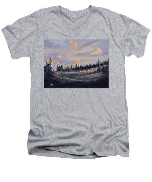 The Days End Men's V-Neck T-Shirt by Richard Faulkner