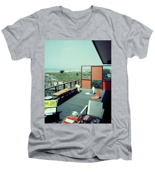 The Deck Of A Beach House Men's V-Neck T-Shirt