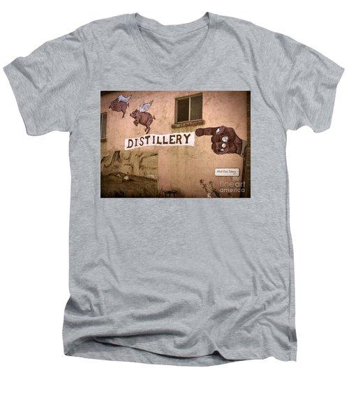 The Distillery Men's V-Neck T-Shirt by Janice Rae Pariza