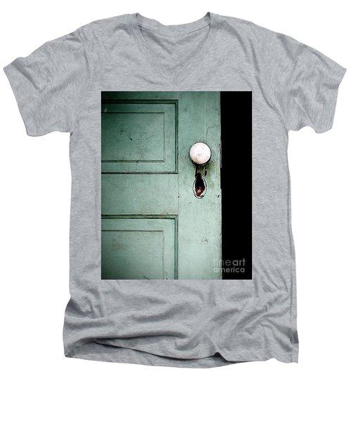 The Door Men's V-Neck T-Shirt by Liz Masoner