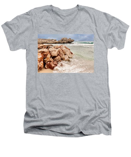 Men's V-Neck T-Shirt featuring the photograph The Dragon Of Labadee by Mitchell R Grosky