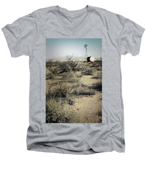 The Dry Lands Of Arizona Men's V-Neck T-Shirt