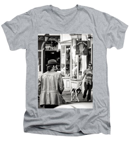 The Dude Men's V-Neck T-Shirt by William Beuther
