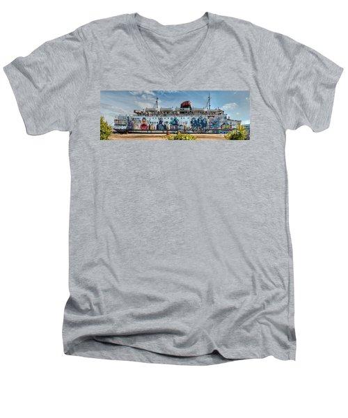 The Duke Of Graffiti Men's V-Neck T-Shirt by Adrian Evans
