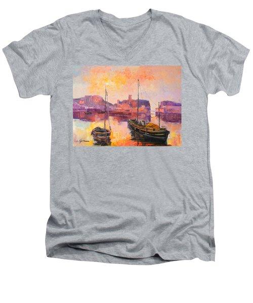 The Dunbar Harbour Men's V-Neck T-Shirt