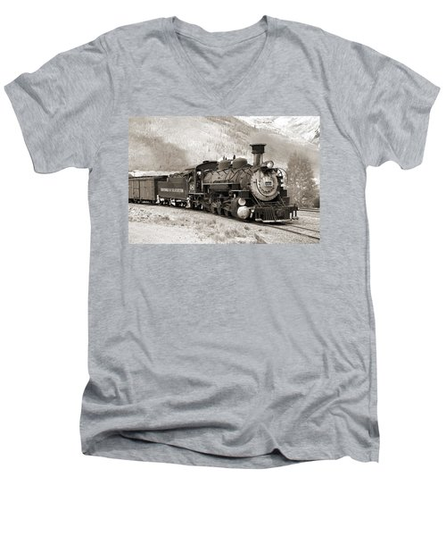 The Durango And Silverton Men's V-Neck T-Shirt