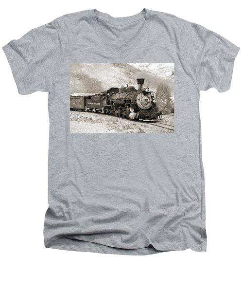 The Durango And Silverton Men's V-Neck T-Shirt