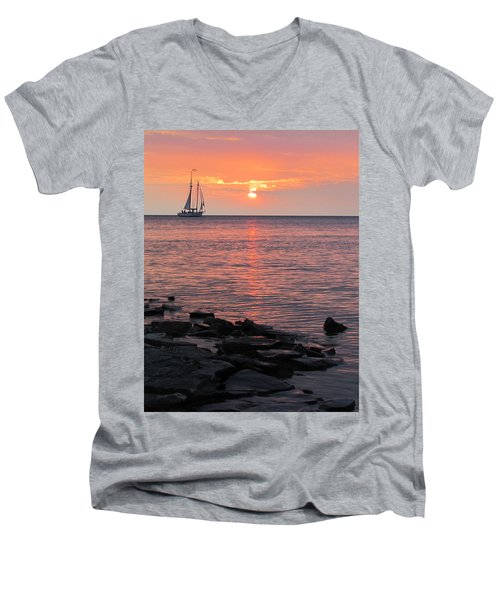 The Edith Becker Sunset Cruise Men's V-Neck T-Shirt