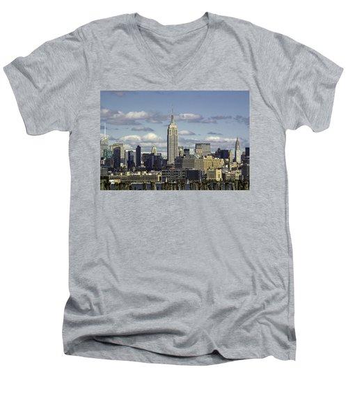 The Empire State Building 2 Men's V-Neck T-Shirt