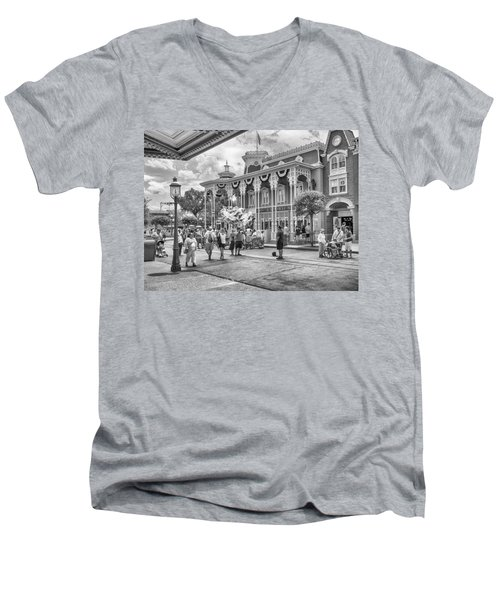 Men's V-Neck T-Shirt featuring the photograph The Emporium by Howard Salmon