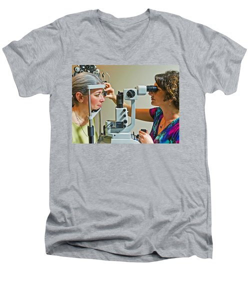 The Eye Doctor Men's V-Neck T-Shirt by Keith Armstrong