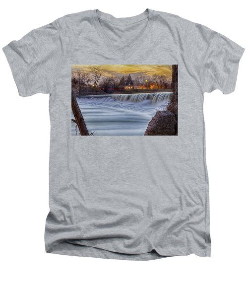 The Falls Of White River Men's V-Neck T-Shirt