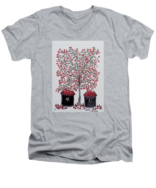 The Famous Door County Cherry Tree Men's V-Neck T-Shirt by AndyJack Andropolis
