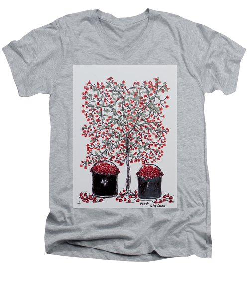 The Famous Door County Cherry Tree Men's V-Neck T-Shirt