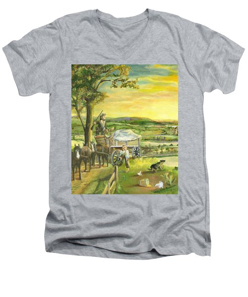The Farm Boy And The Roads That Connect Us Men's V-Neck T-Shirt