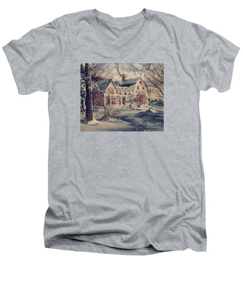 The Farm Men's V-Neck T-Shirt by Joy Nichols