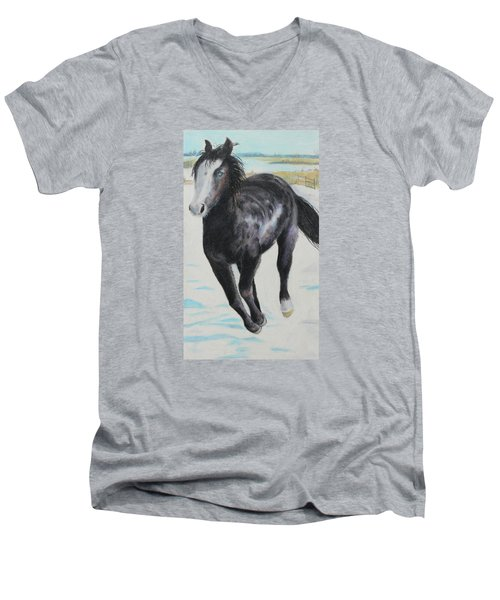 The Feel Of The Cool Air Men's V-Neck T-Shirt by Jeanne Fischer