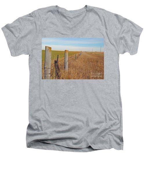 The Fence Row Men's V-Neck T-Shirt by Mary Carol Story