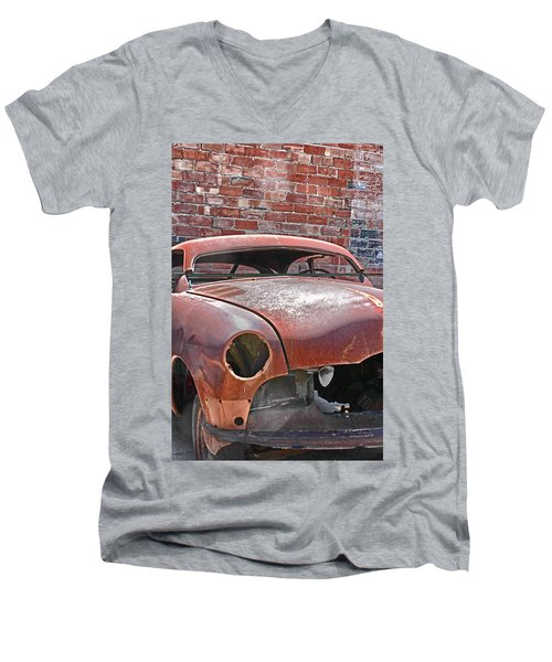 Men's V-Neck T-Shirt featuring the photograph The Fixer Upper by Lynn Sprowl