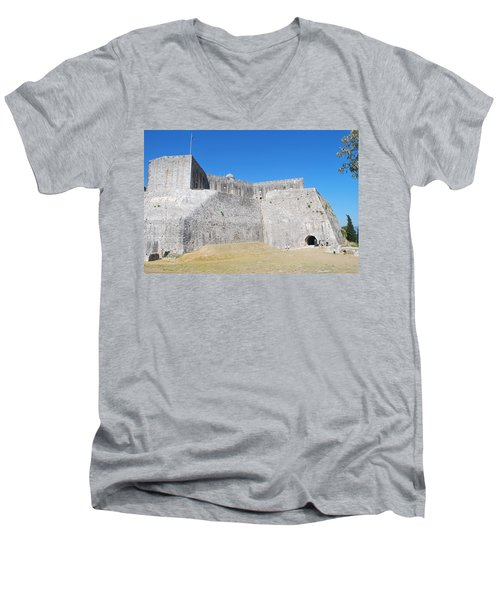 Men's V-Neck T-Shirt featuring the photograph The Fort Never Fell by George Katechis