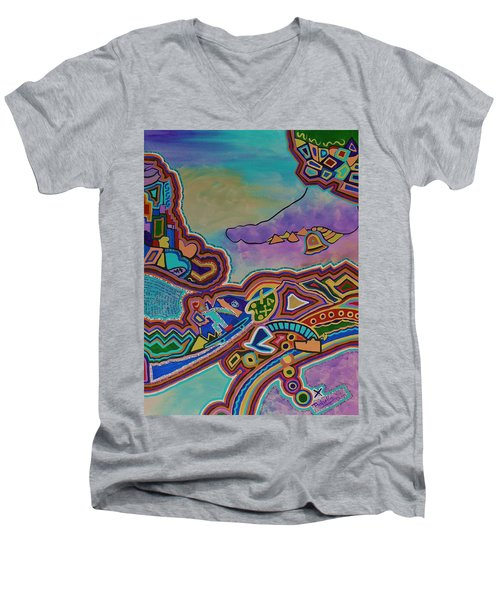 The Genie Is Out Of The Bottle Men's V-Neck T-Shirt by Barbara St Jean
