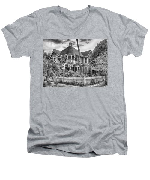 Men's V-Neck T-Shirt featuring the photograph The Gingerbread House by Howard Salmon