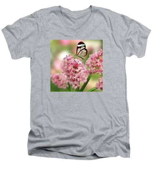 The Glasswing Men's V-Neck T-Shirt by Morag Bates
