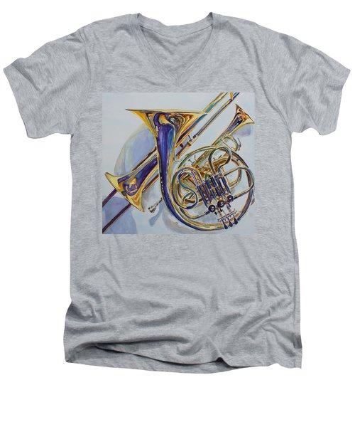 The Glow Of Brass Men's V-Neck T-Shirt