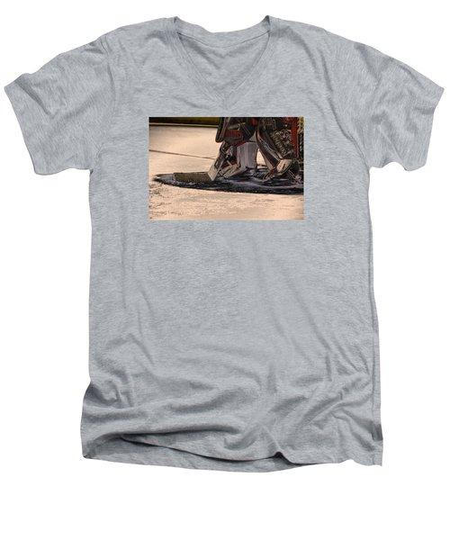 The Goalies Crease Men's V-Neck T-Shirt by Karol Livote