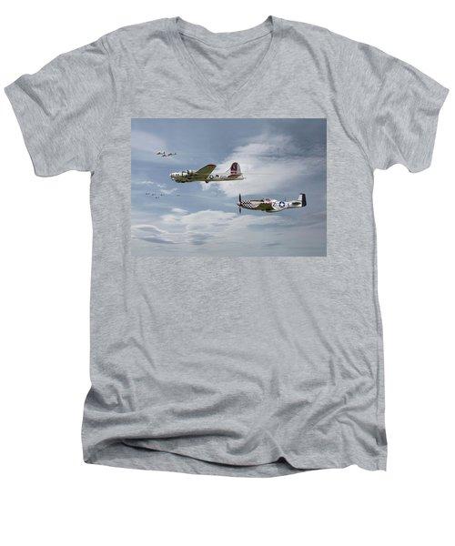 The Good Shepherd Men's V-Neck T-Shirt by Pat Speirs