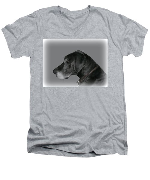 The Great Dane Men's V-Neck T-Shirt by Barbara S Nickerson