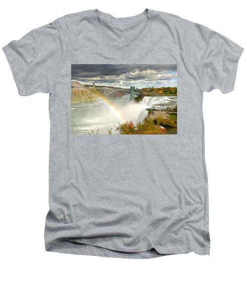 The Great Power Of Tesla Men's V-Neck T-Shirt