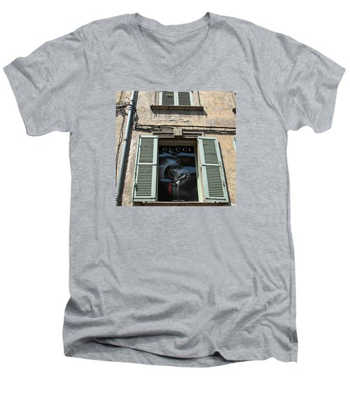 The Gucci Window Men's V-Neck T-Shirt